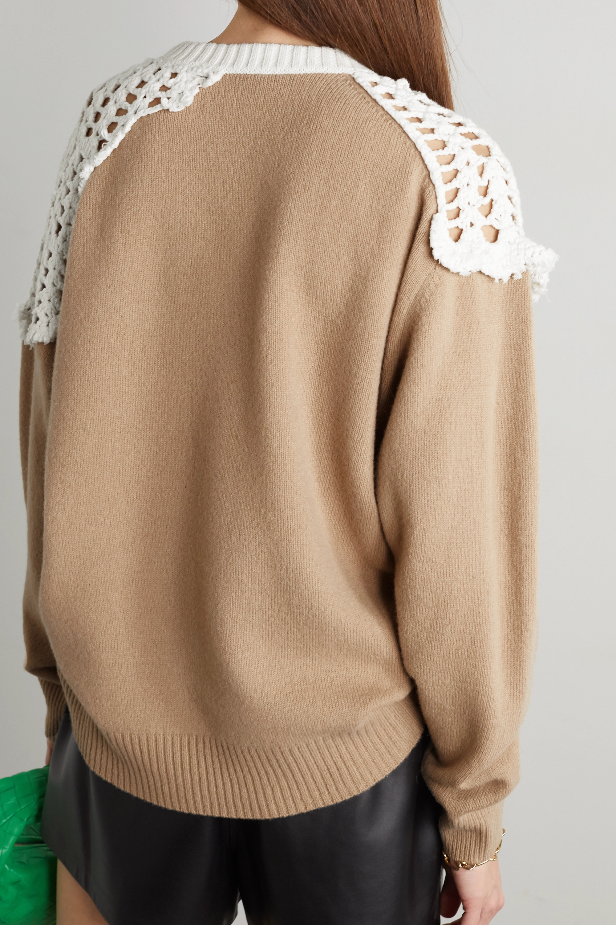 TIBI Lana crocheted cotton and wool sweater