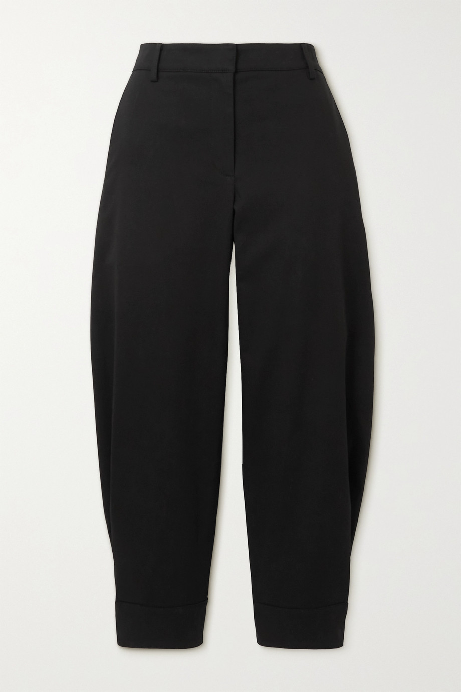TIBI Organic cotton-blend twill tapered pants