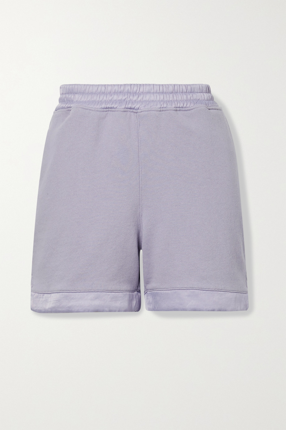 RTA Edgar satin-trimmed cotton-jersey shorts