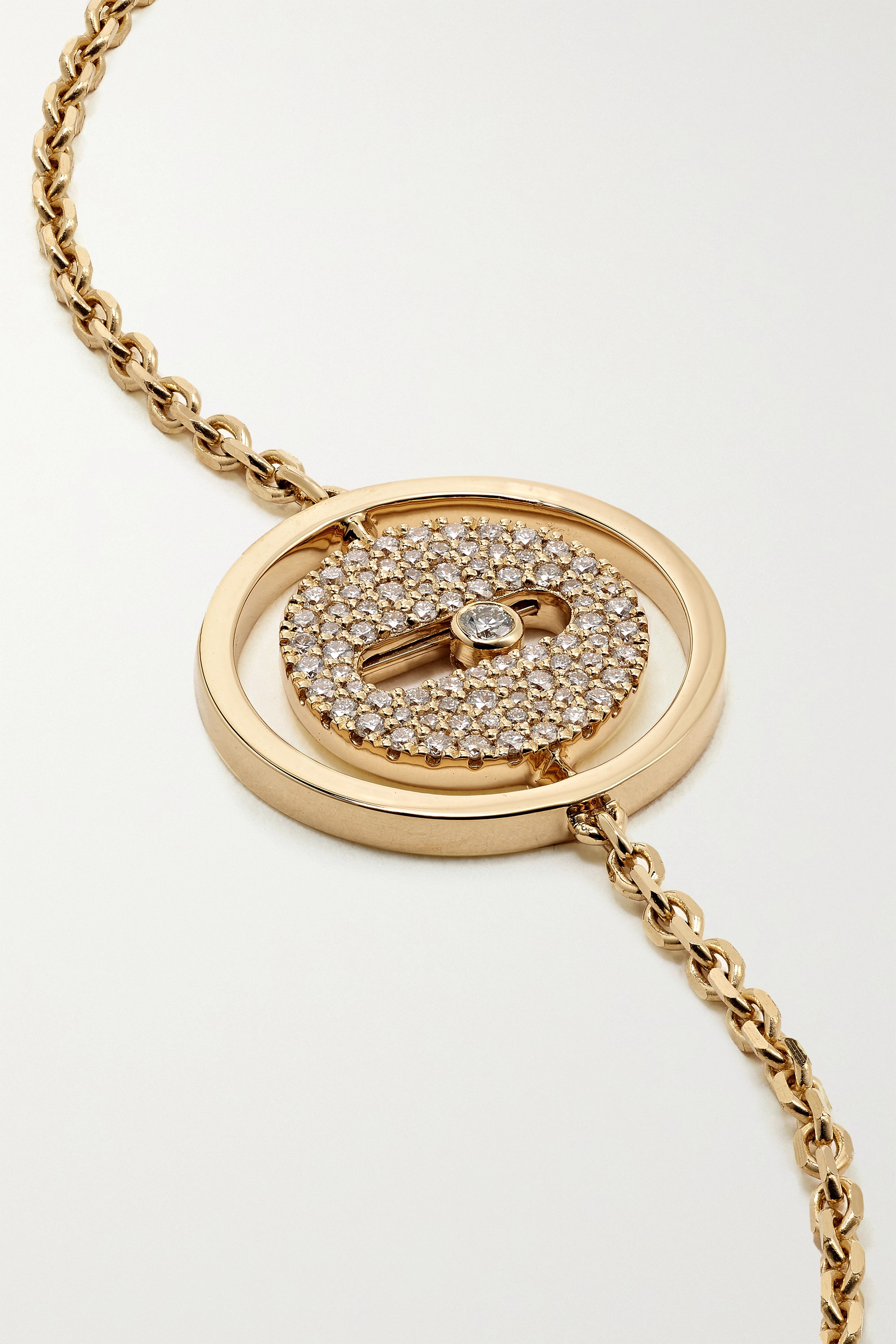MESSIKA Lucky Move 18-karat gold diamond bracelet
