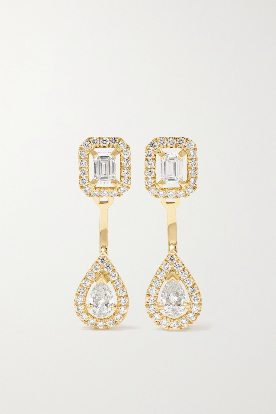 MESSIKA My Twin Toi & Moi 18-karat gold diamond earrings