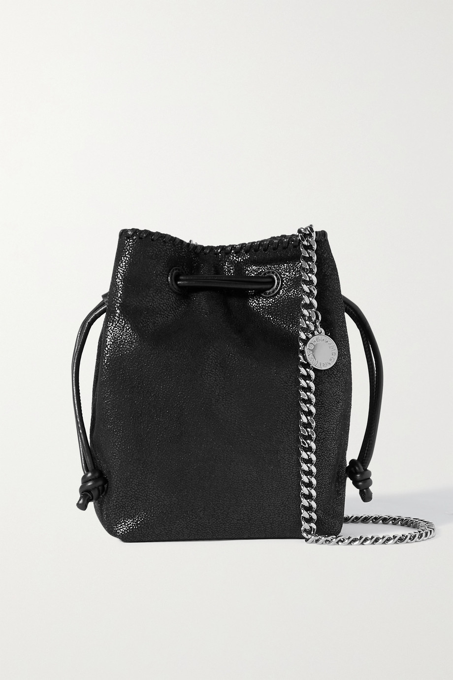 STELLA MCCARTNEY The Falabella micro vegetarian brushed-leather bucket bag
