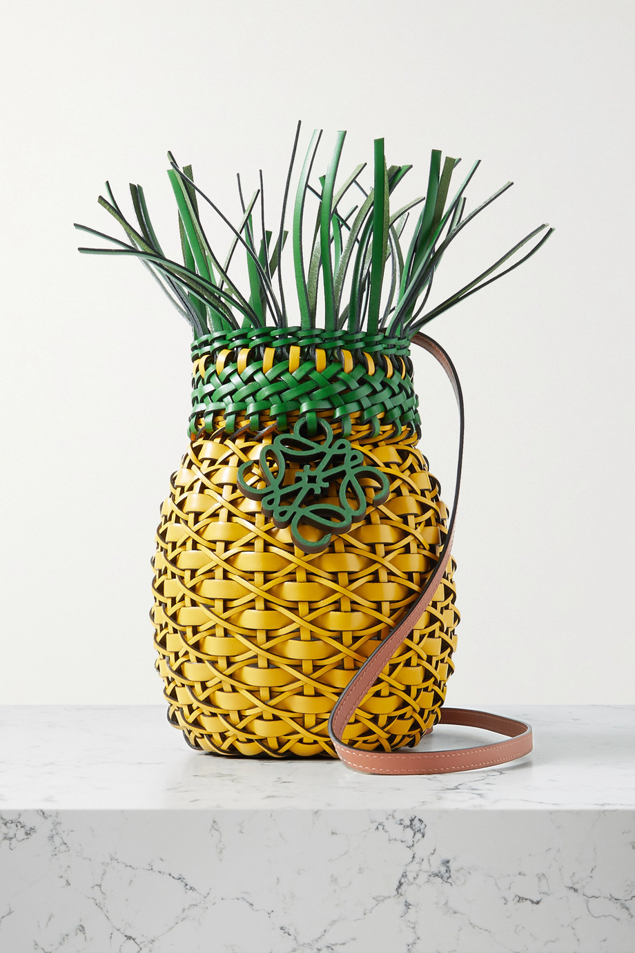 LOEWE Pineapple woven leather shoulder bag
