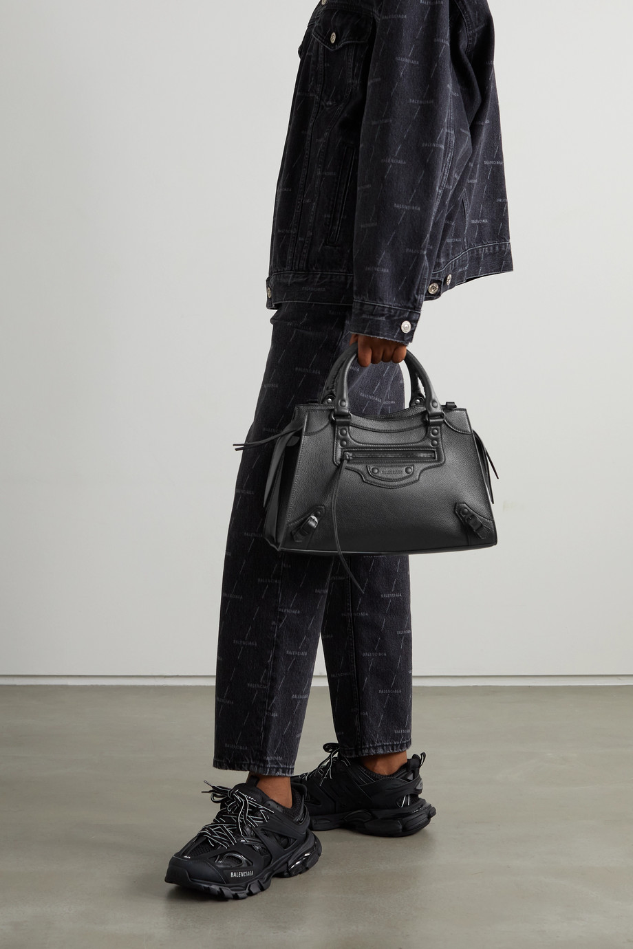BALENCIAGA Neo Classic City small textured-leather tote