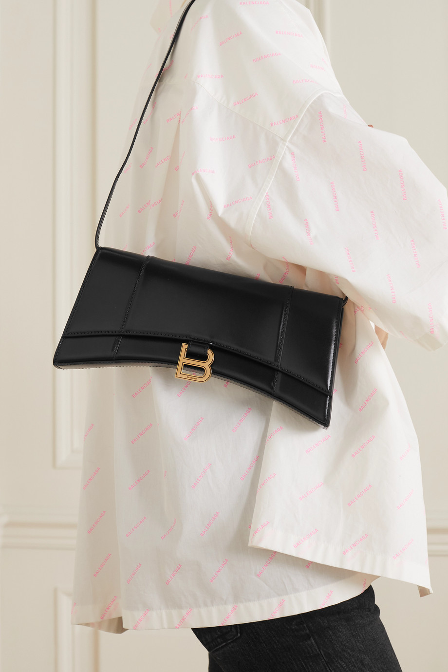BALENCIAGA Hourglass leather shoulder bag