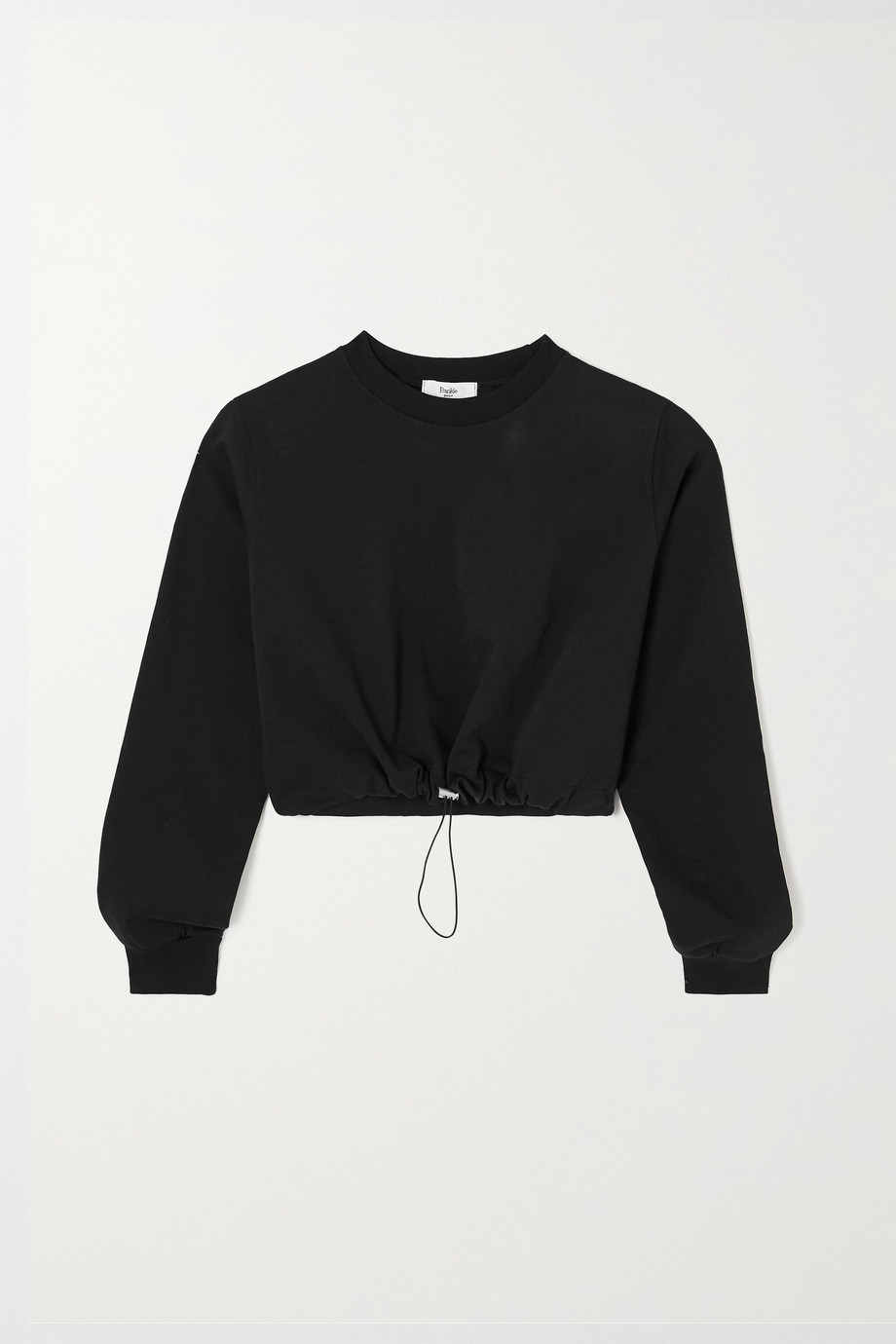 FRANKIE SHOP Vanessa cropped cotton-terry sweatshirt