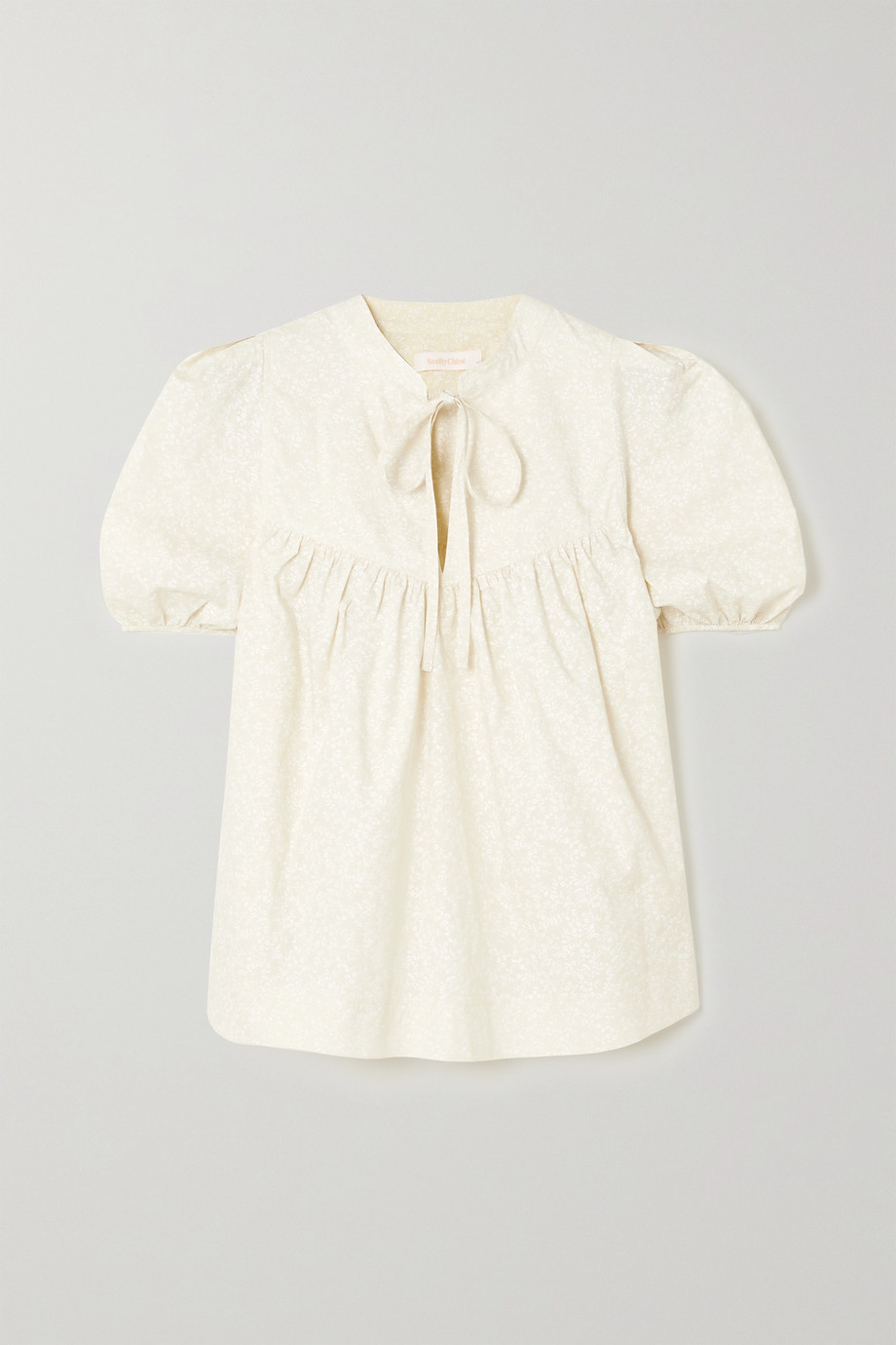 SEE BY CHLOÉ Floral-print cotton-poplin blouse