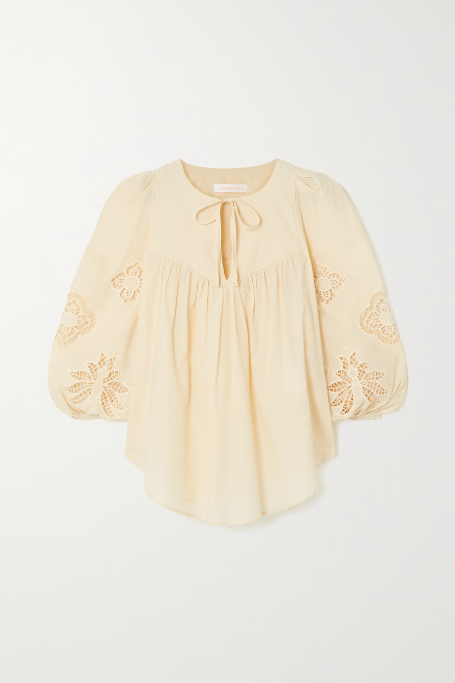 SEE BY CHLOÉ Broderie anglaise cotton-voile blouse