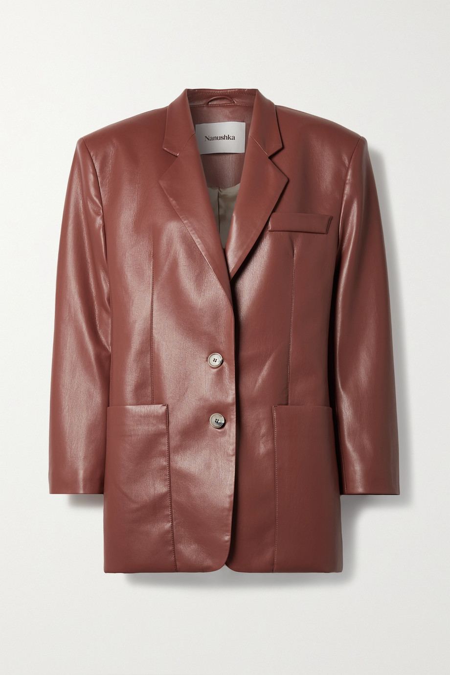 NANUSHKA Evan vegan leather blazer