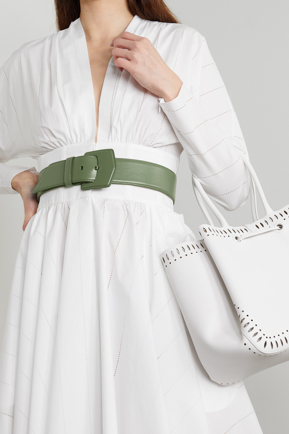 ALAÏA Leather waist belt