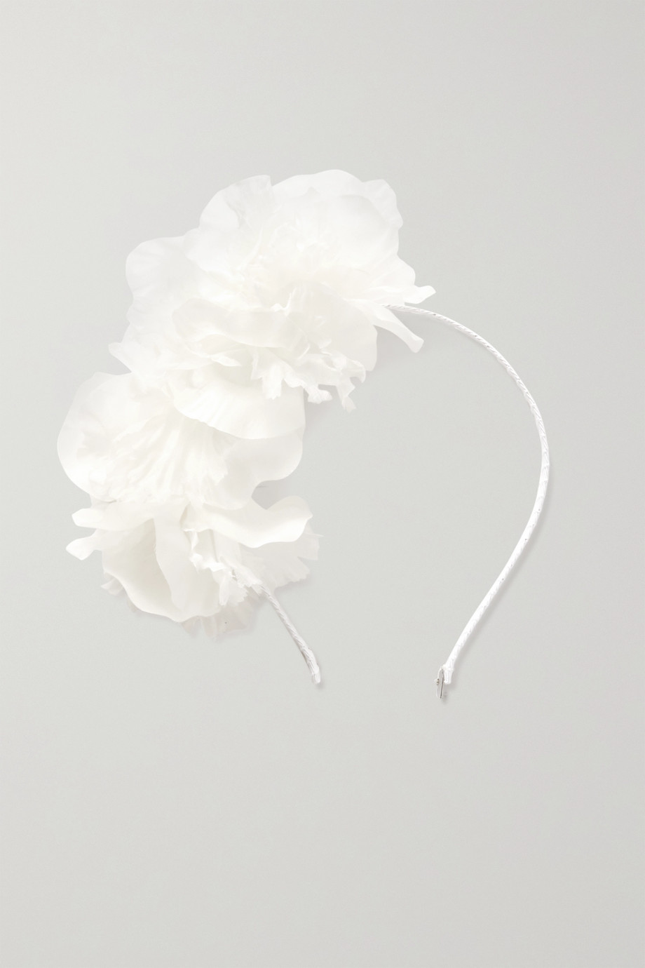 GIGI BURRIS Silk-organza and grosgrain headband