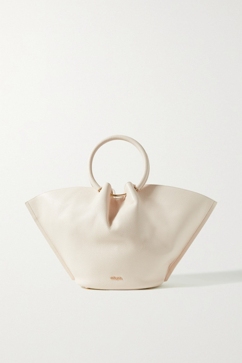 컬트 가이아 Cult Gaia Valeska gathered textured-leather tote,Off-white
