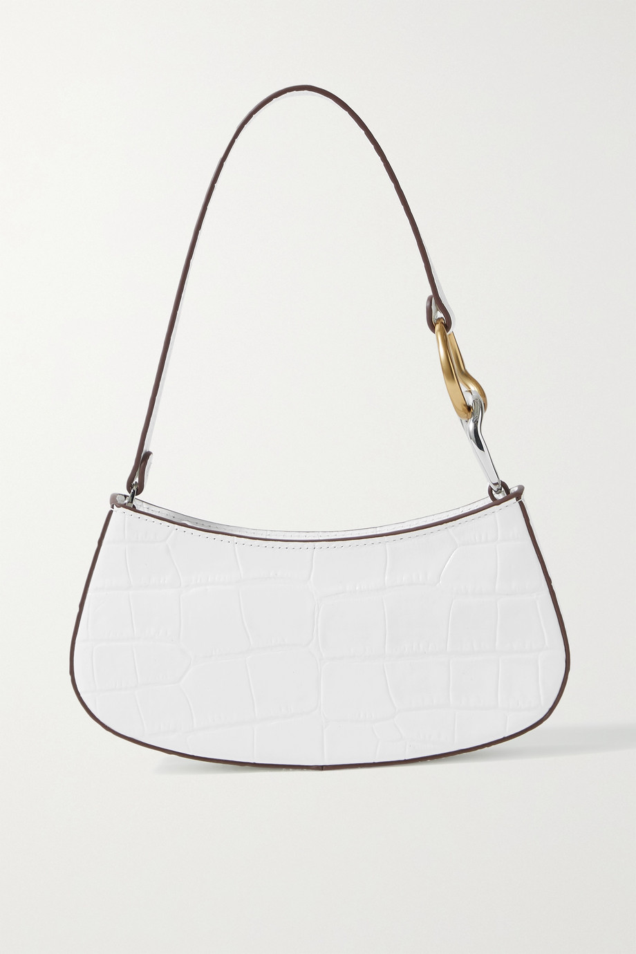 STAUD Ollie croc-effect leather shoulder bag