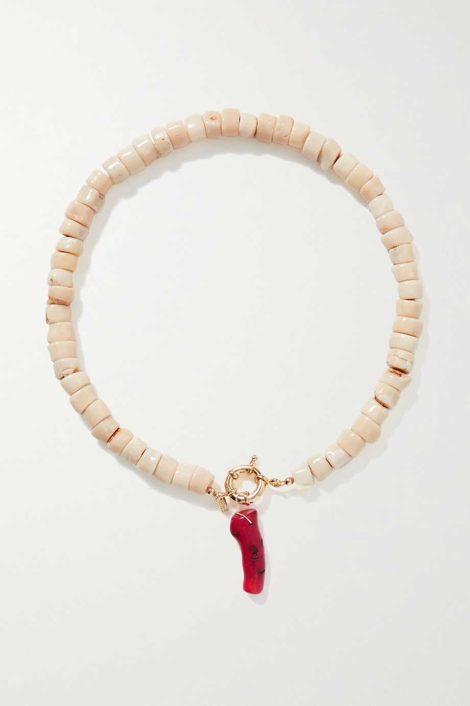 ÉLIOU Salacia gold-plated and coral necklace