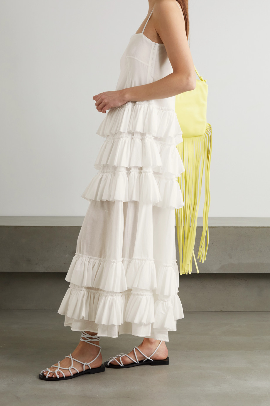 MOLLY GODDARD Wray ruffled tiered cotton-voile maxi dress