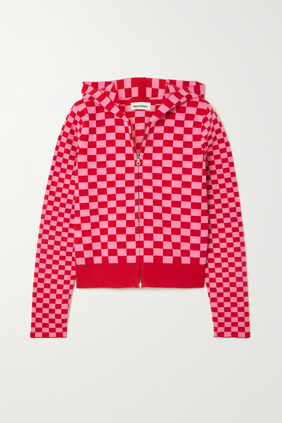 MOLLY GODDARD Owen checked cotton hoodie