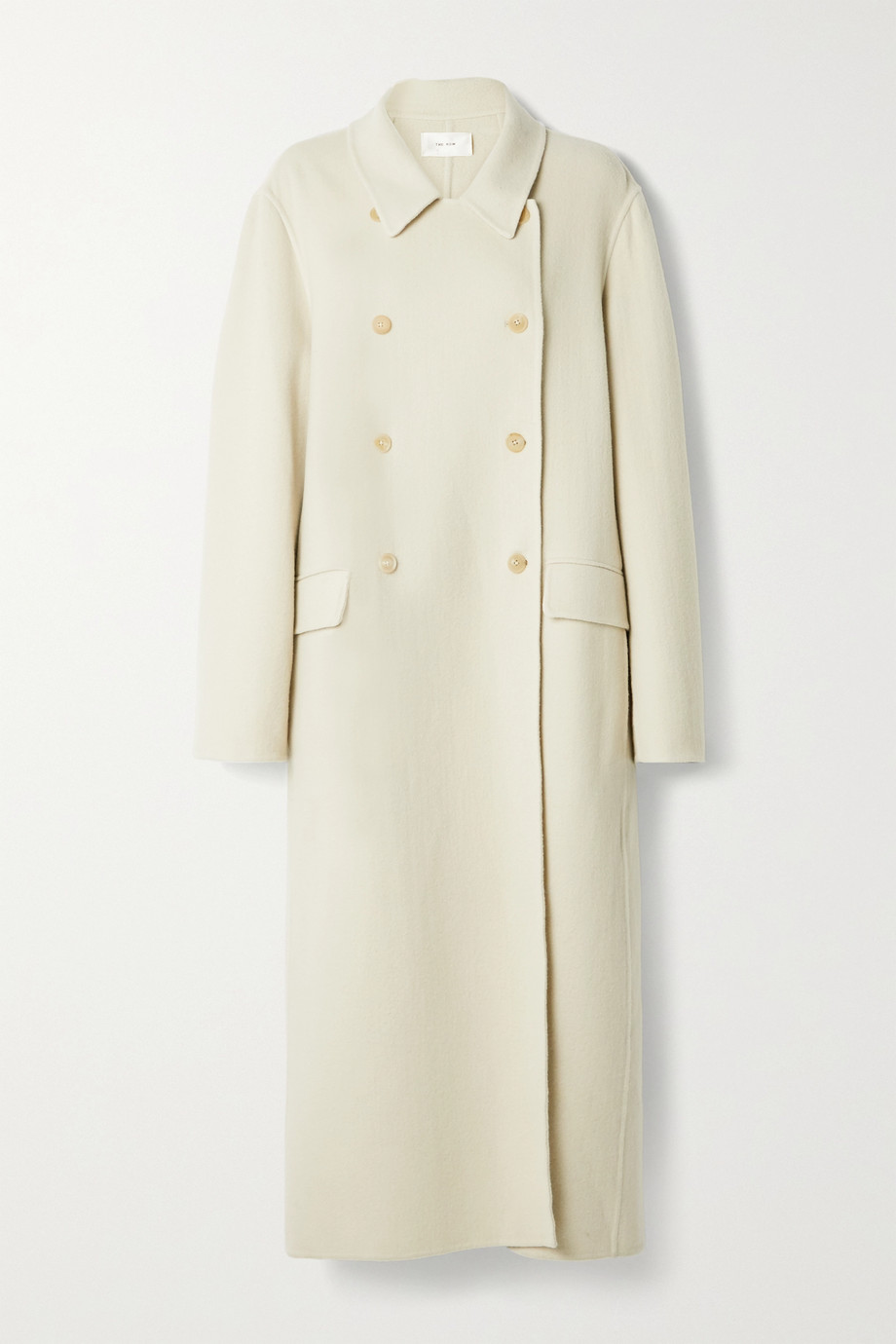 THE ROW Dilona oversized double-breasted cashmere, wool and silk-blend coat