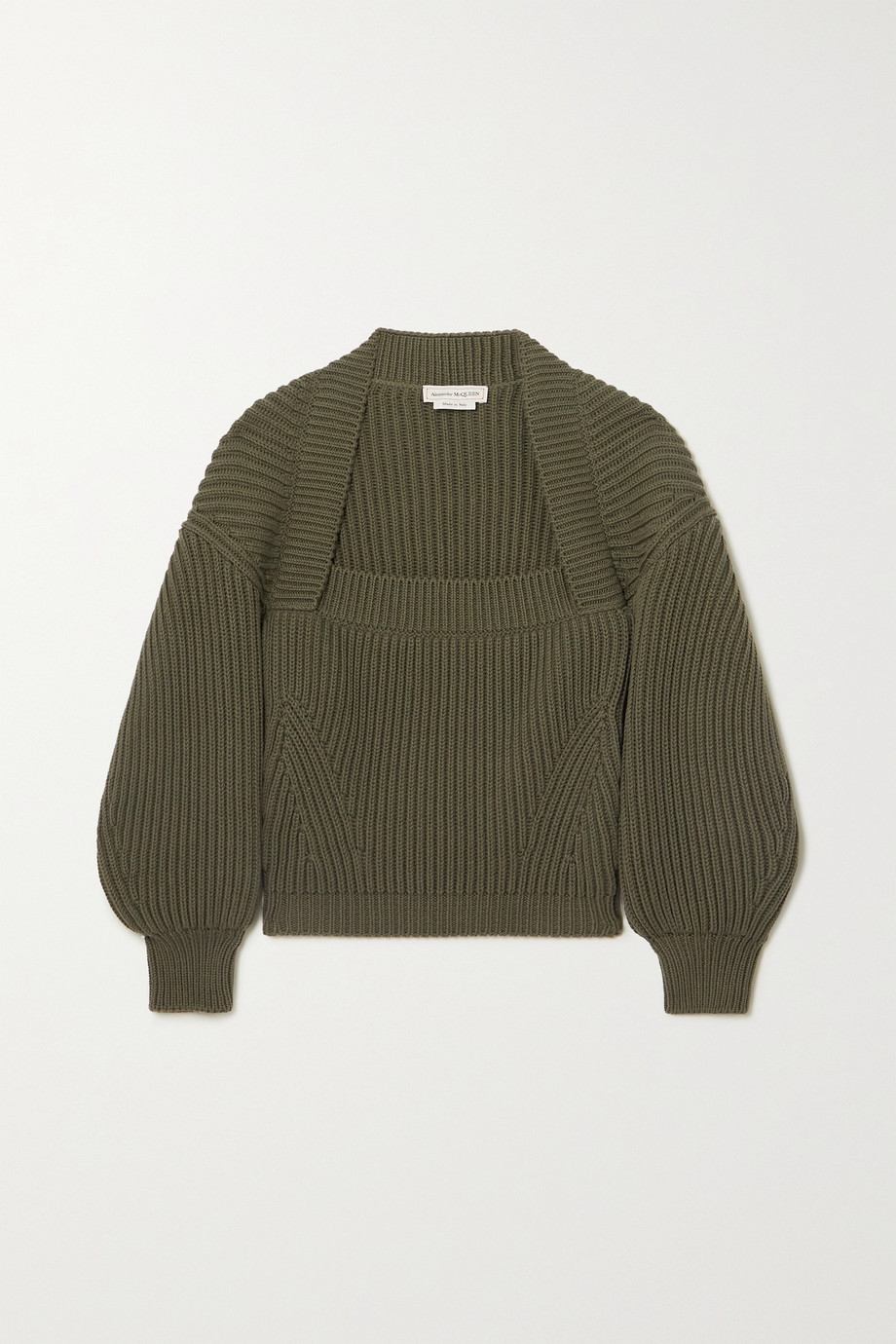 ALEXANDER MCQUEEN Ribbed cotton sweater