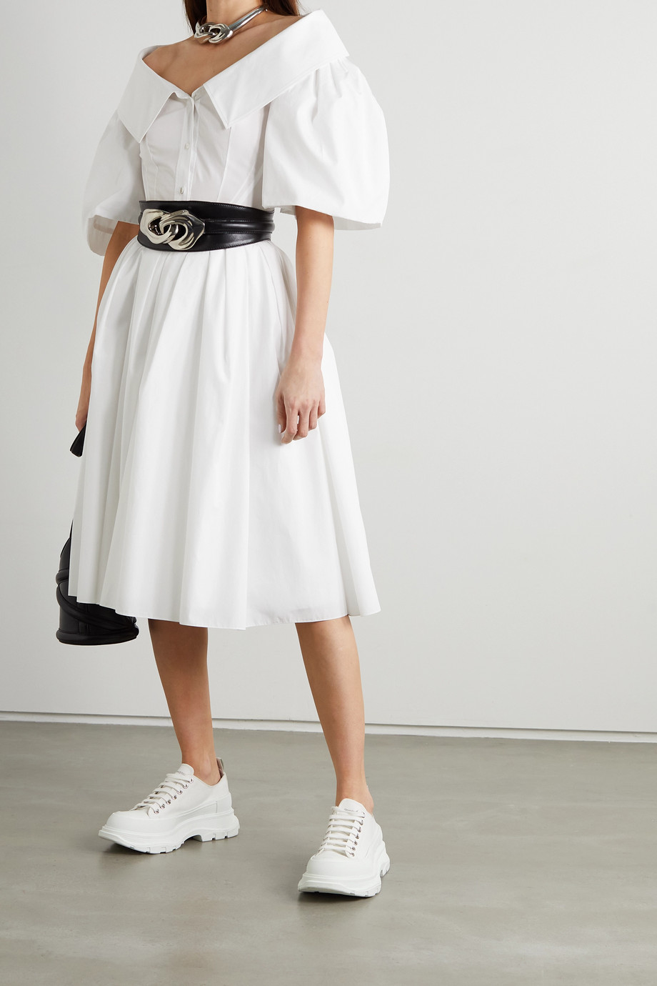 ALEXANDER MCQUEEN Cotton-poplin shirt dress