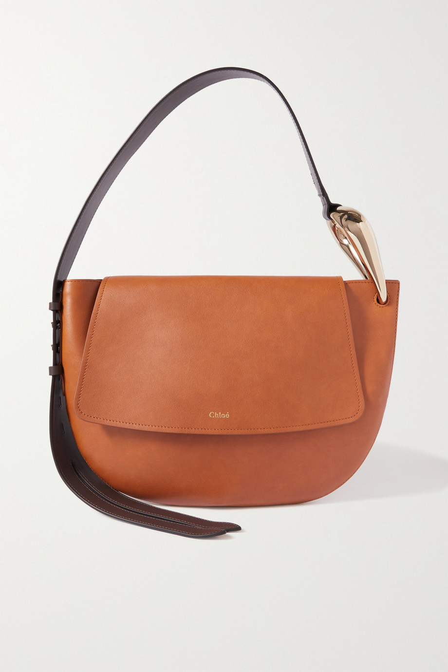 CHLOÉ Kiss leather shoulder bag