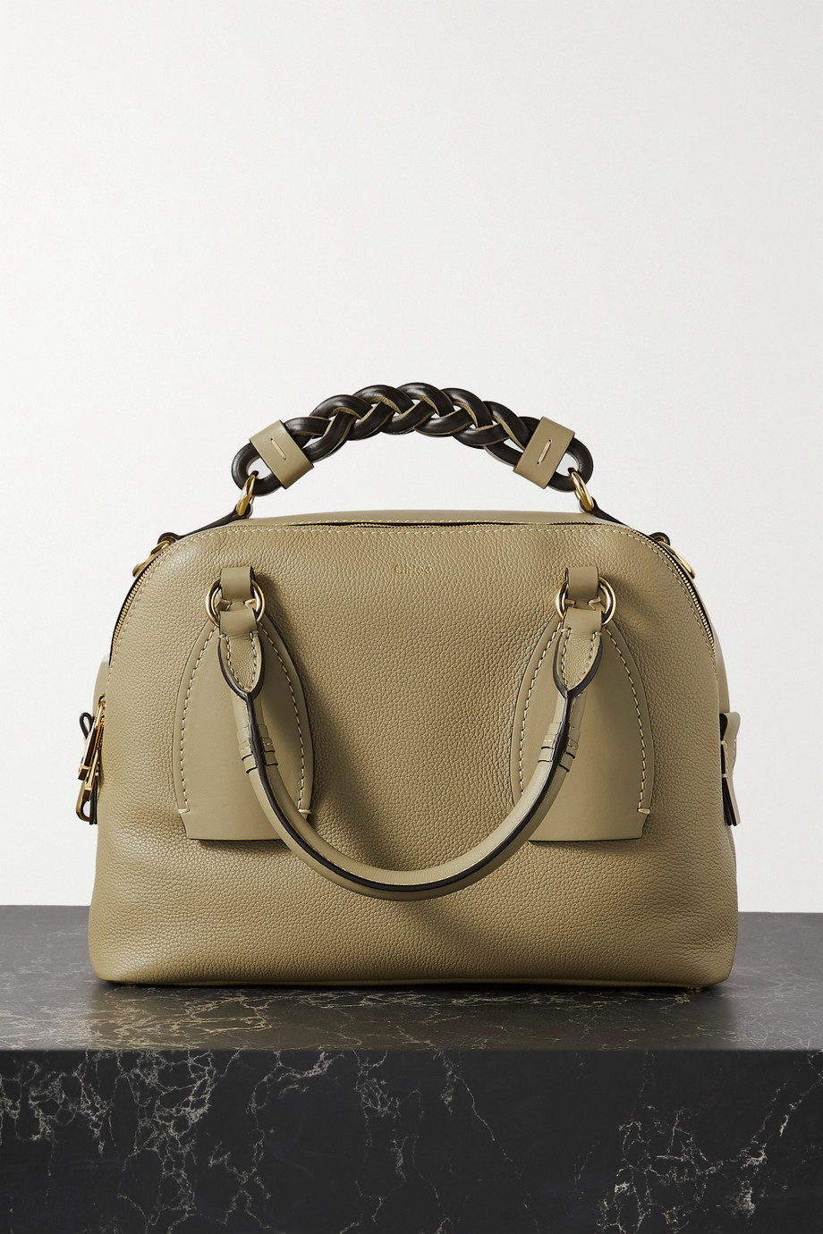 CHLOÉ Daria medium textured and smooth leather tote
