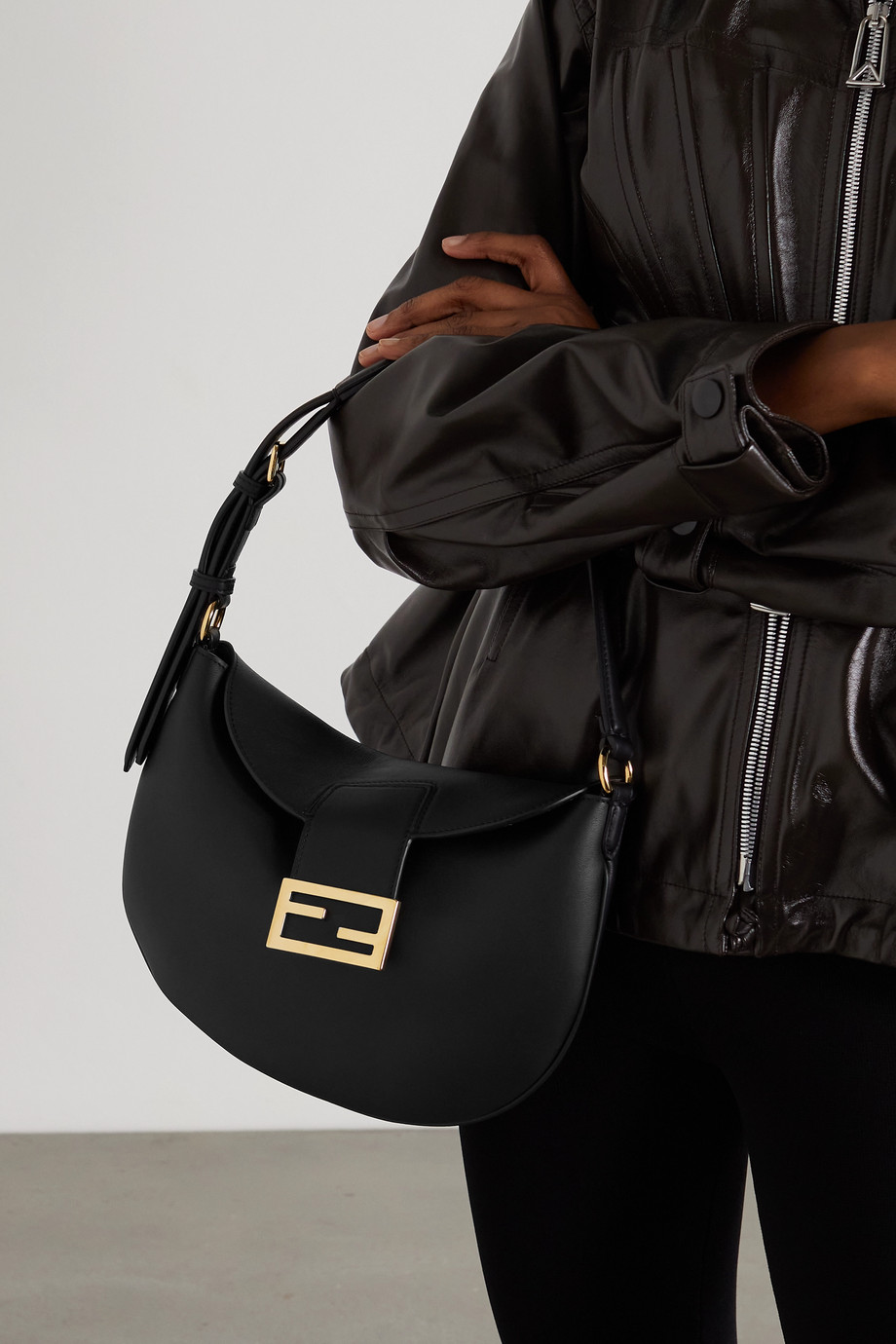 FENDI Croissant medium leather shoulder bag
