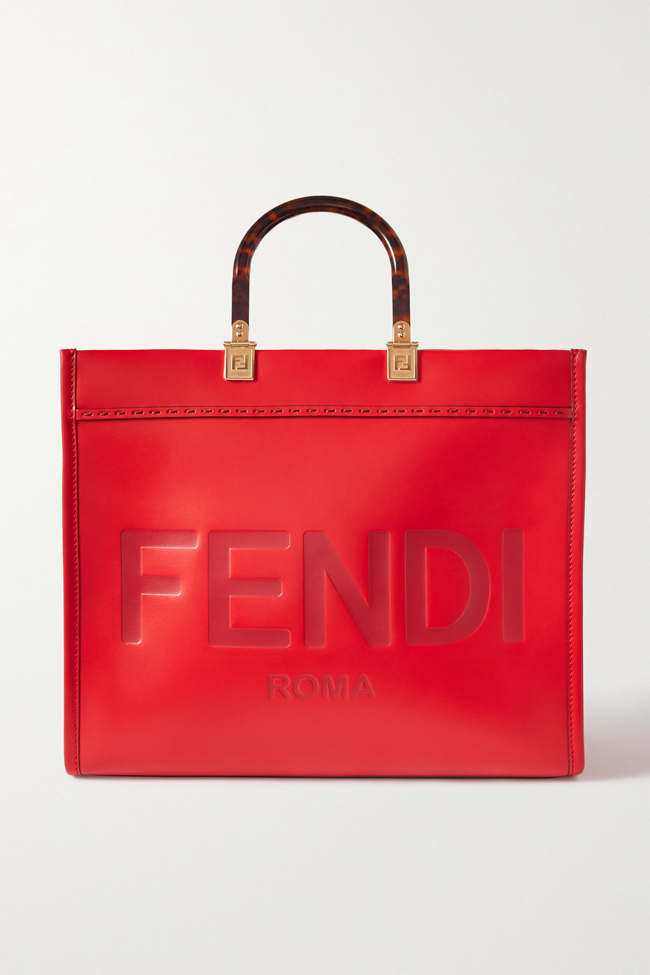 FENDI Sunshine medium debossed leather tote