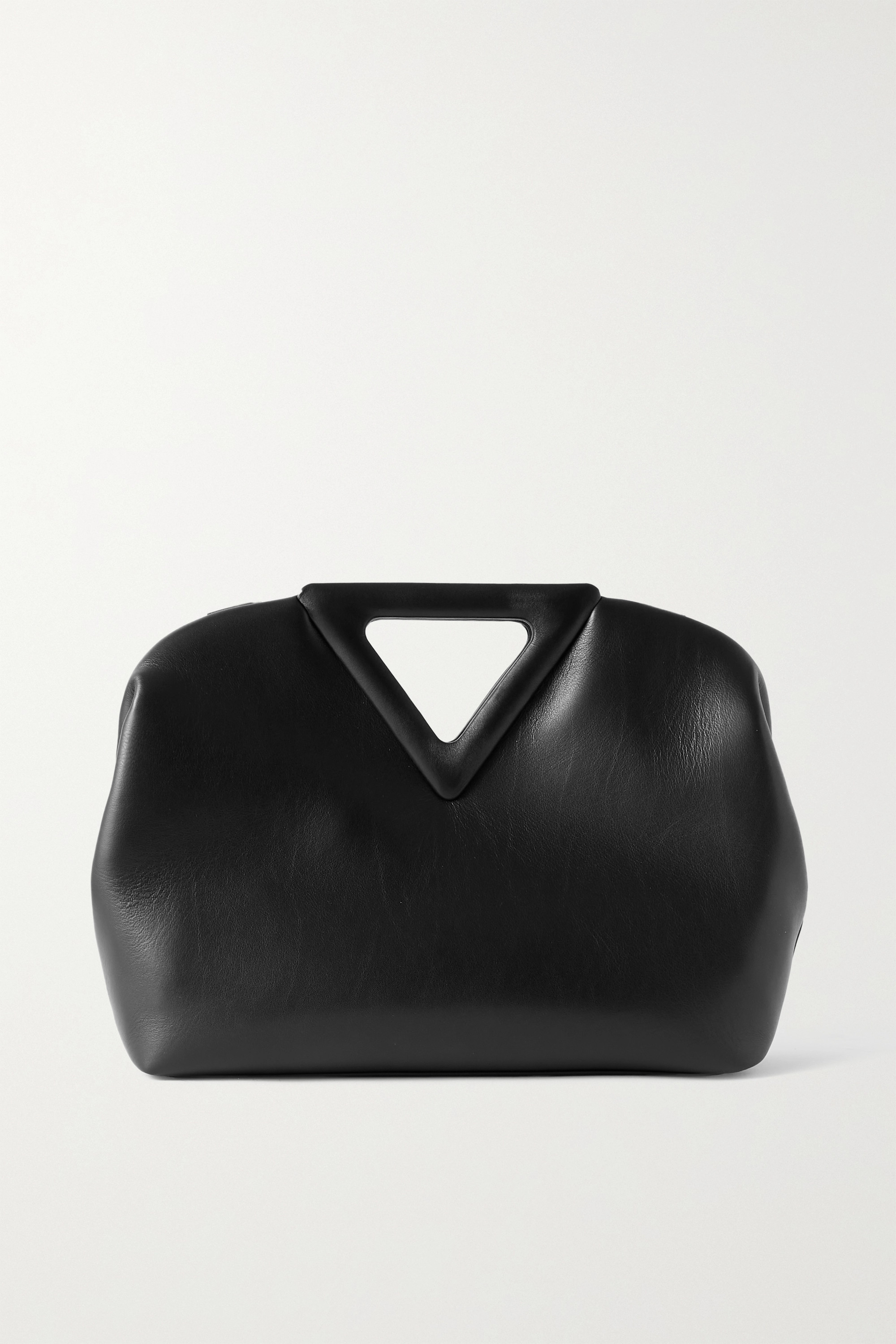 BOTTEGA VENETA Point medium neon leather tote