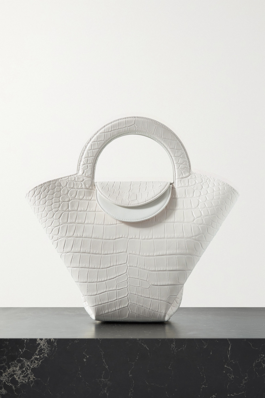 BOTTEGA VENETA Doll small croc-effect leather tote