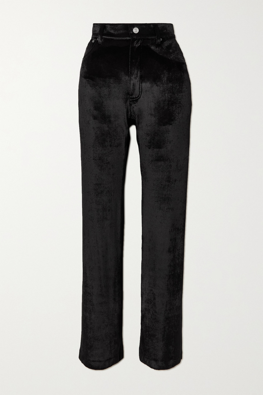 BALENCIAGA Stretch-velvet straight-leg pants