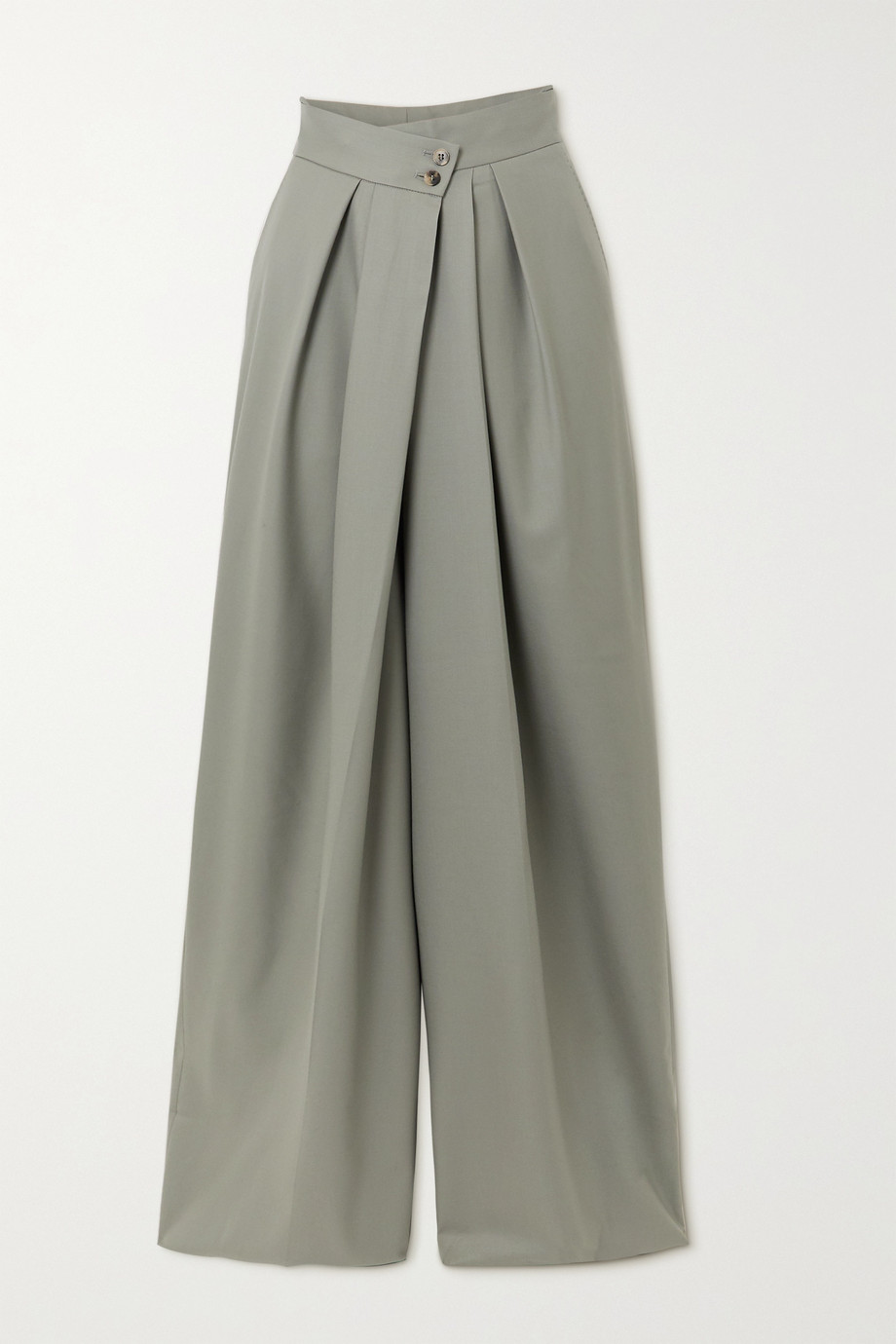 PETAR PETROV Hope pleated merino wool wide-leg pants