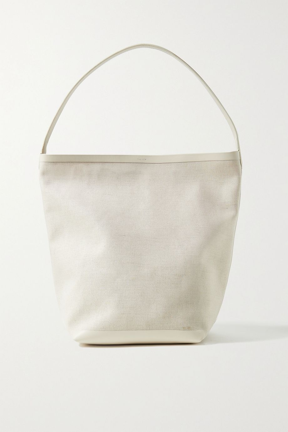 THE ROW N/S Park leather-trimmed canvas tote