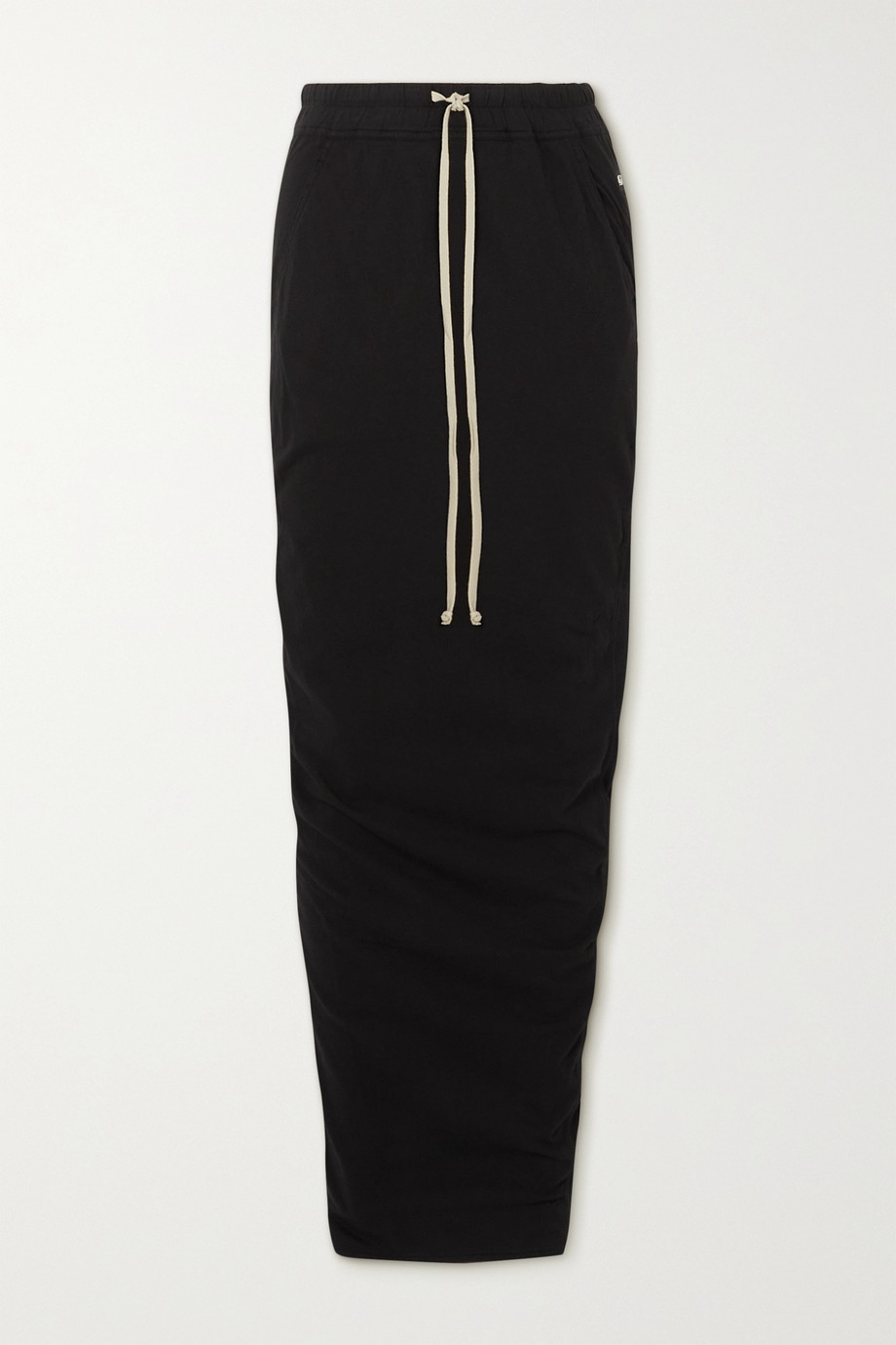 RICK OWENS Gonna appliquéd cotton-jersey maxi skirt