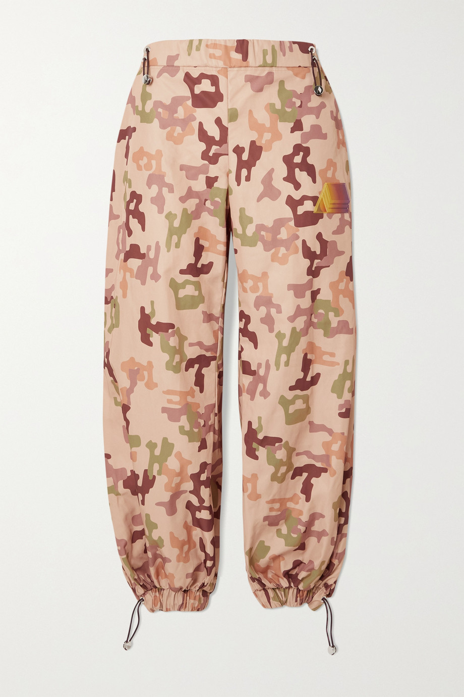 THE ATTICO Elon camouflage-print shell track pants
