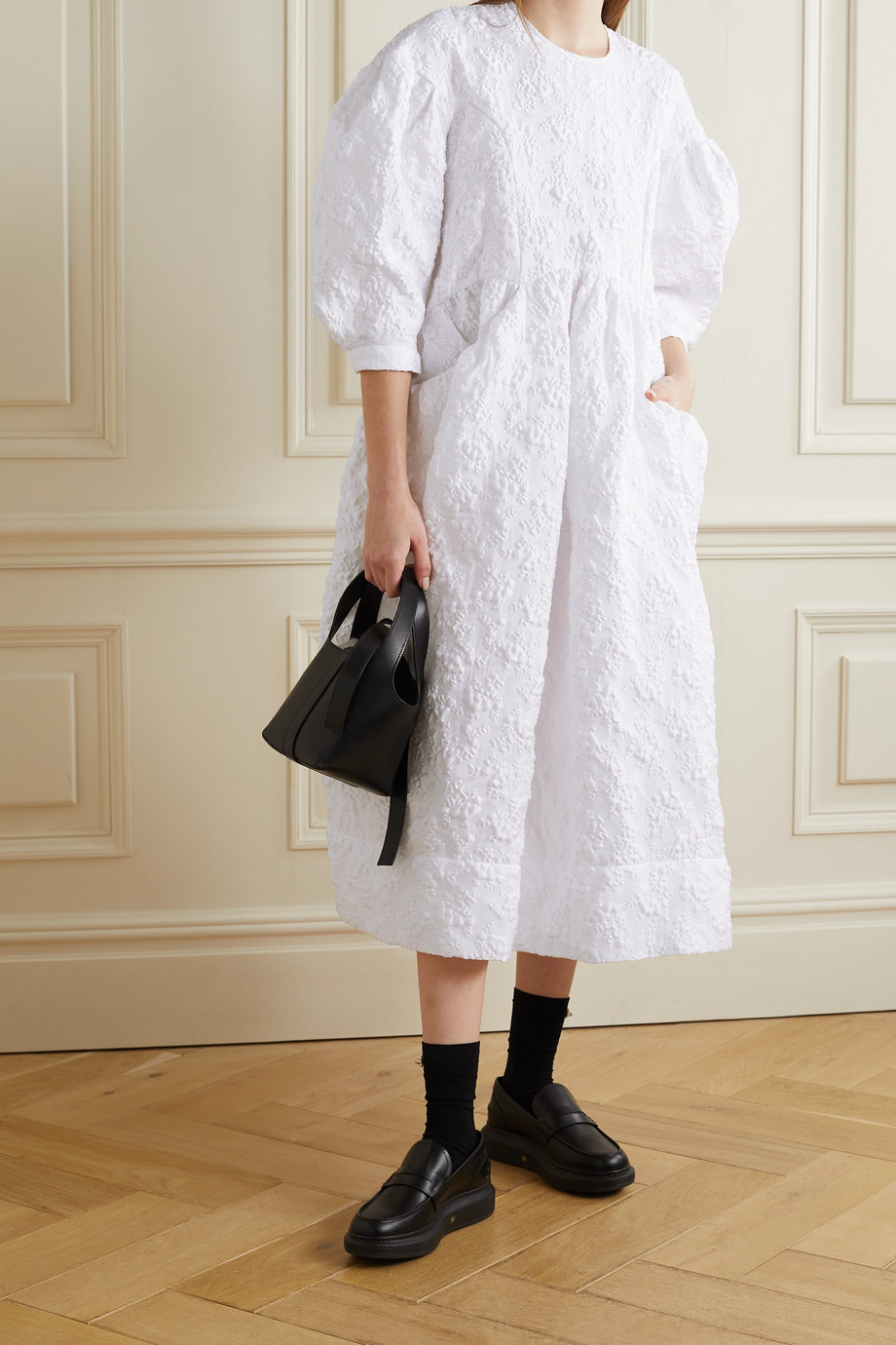 SIMONE ROCHA Cloqué midi dress