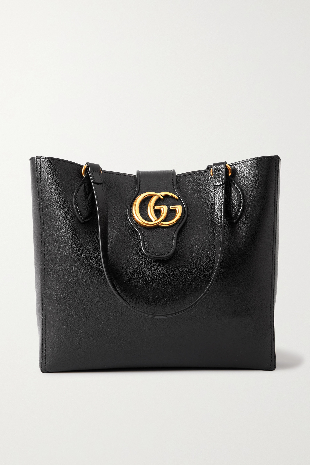 GUCCI - + Net Sustain Dahlia Textured-leather Tote - Black - one size