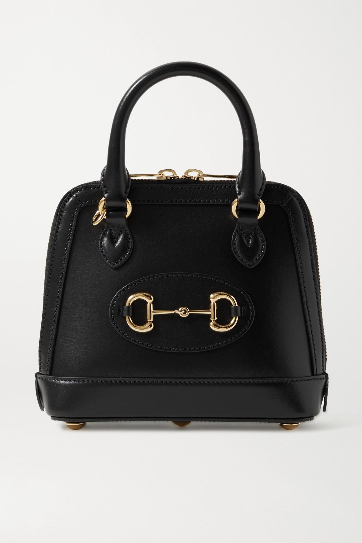 GUCCI - + Net Sustain Horsebit 1955 Mini Leather Tote - Black - one size