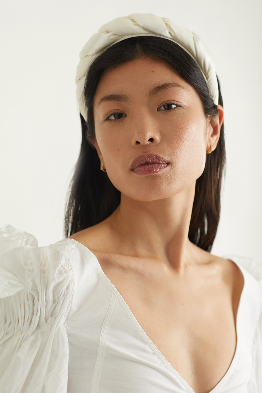 SOPHIE BUHAI Twisted satin and crepe headband