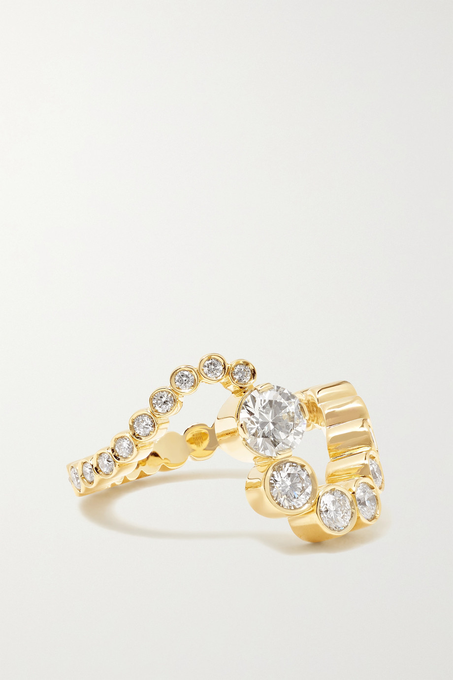 SOPHIE BILLE BRAHE Grand Ocean Ensemble 18-karat gold diamond ring