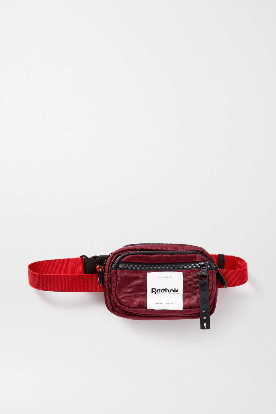 REEBOK X VICTORIA BECKHAM Appliquéd canvas belt bag