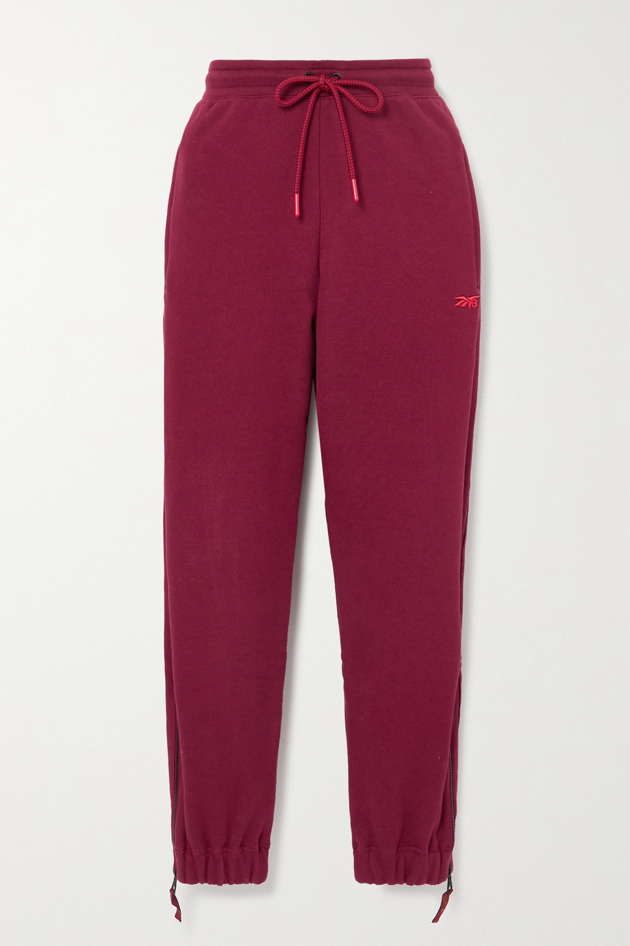 REEBOK X VICTORIA BECKHAM Embroidered cotton-jersey track pants