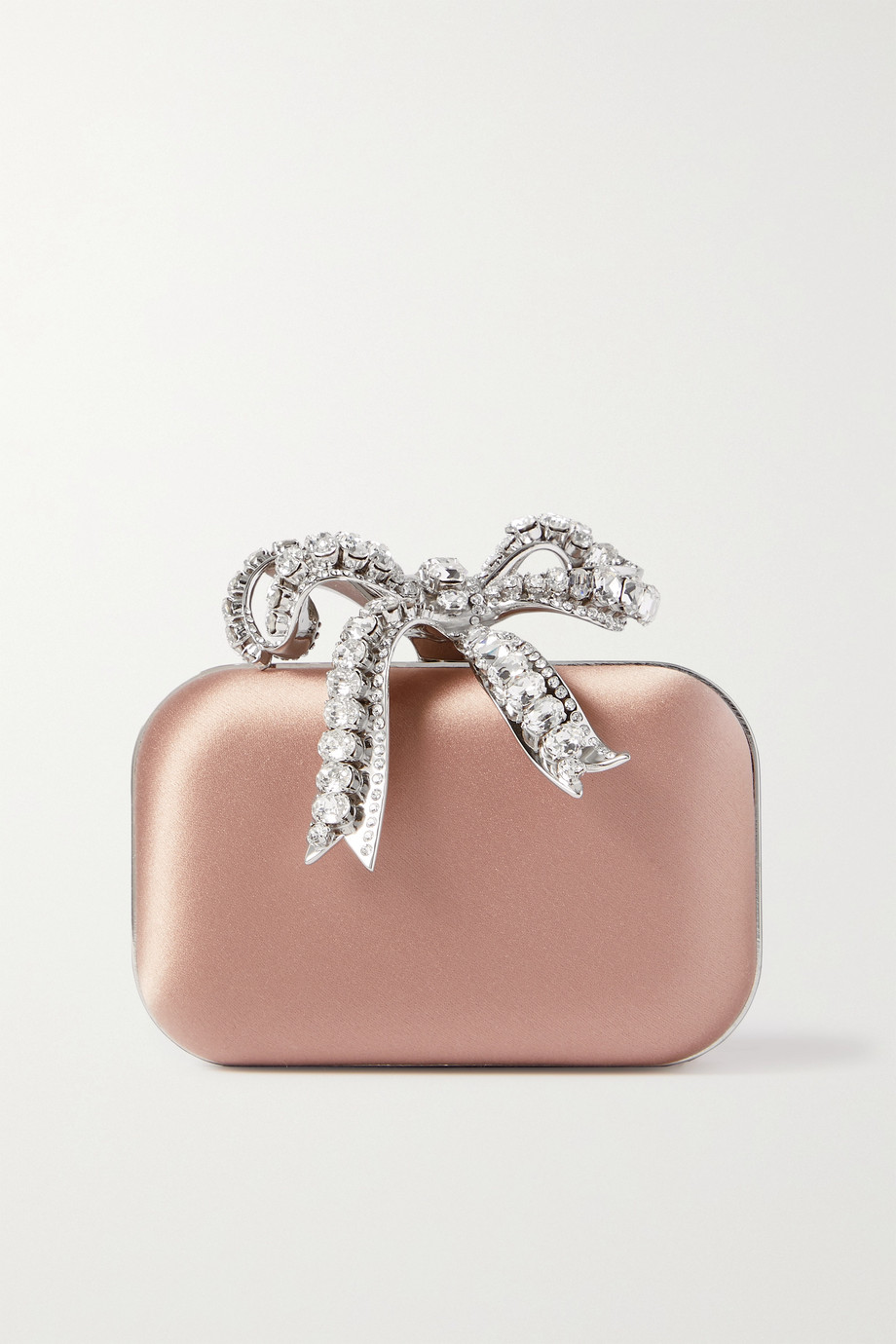 JIMMY CHOO Cloud micro crystal-embellished satin clutch