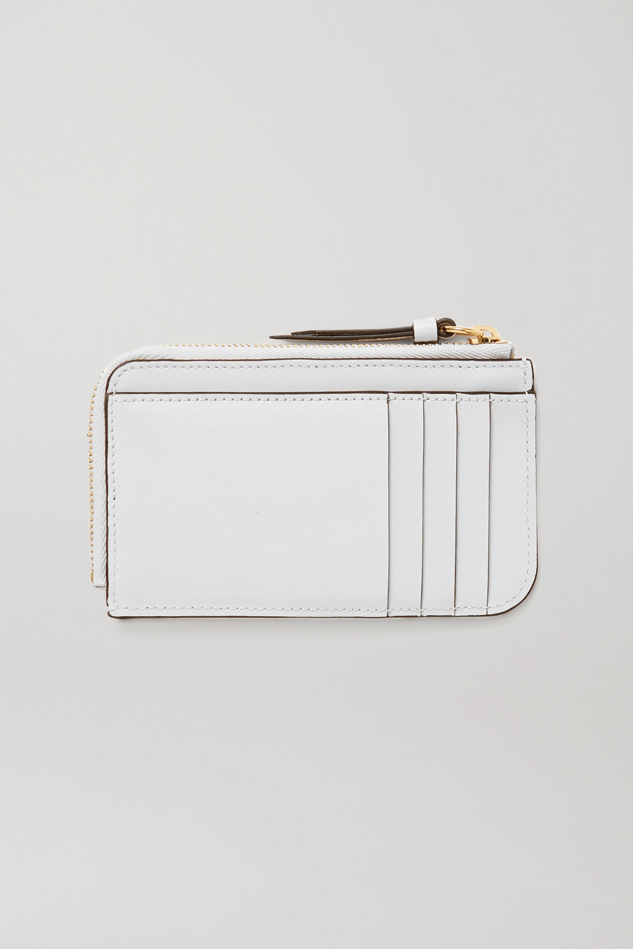 CHLOÉ C croc-effect leather cardholder