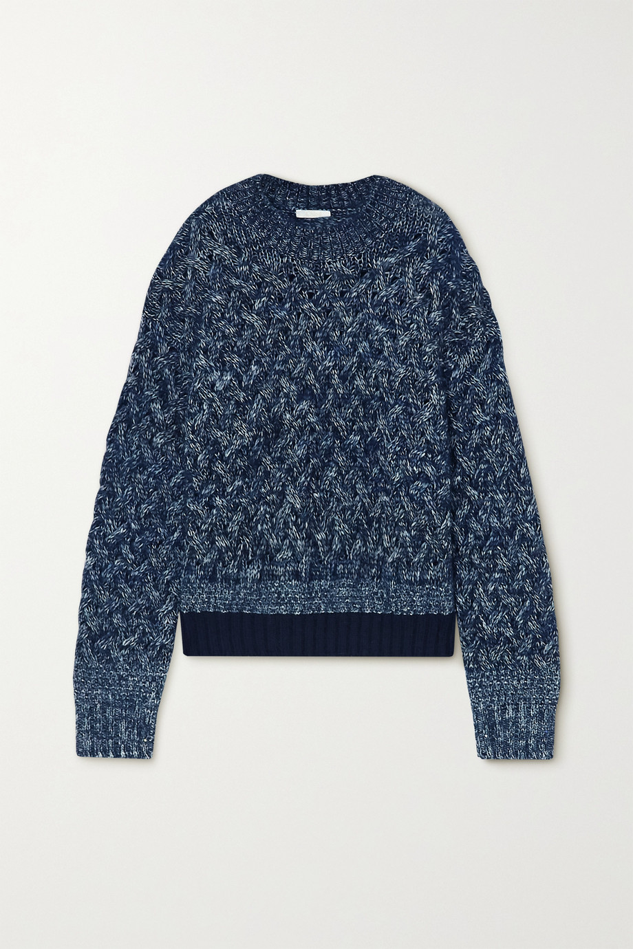 CHLOÉ Cable-knit mélange wool-blend sweater
