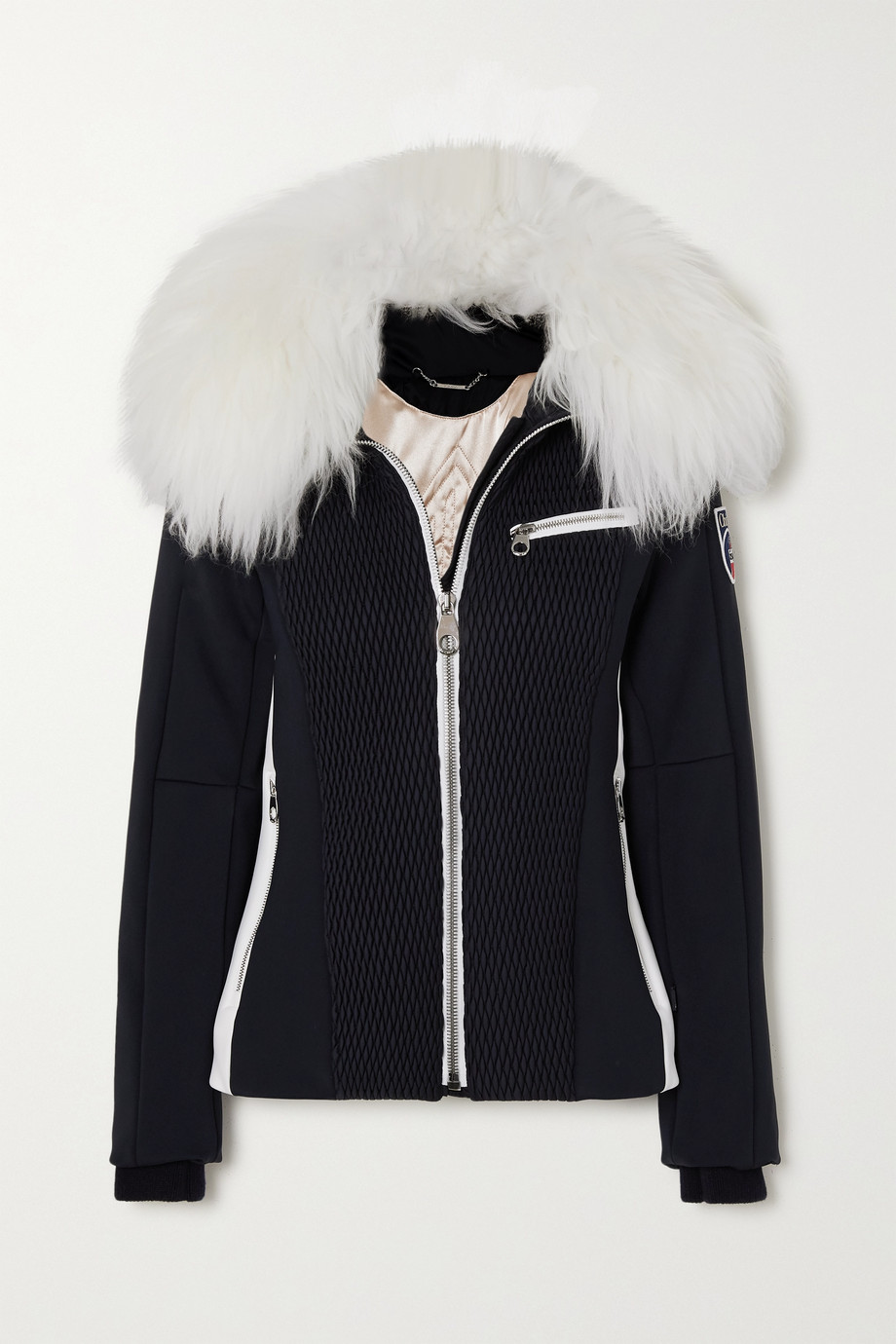 CHLOÉ + Fusalp shearling-trimmed quilted ski jacket