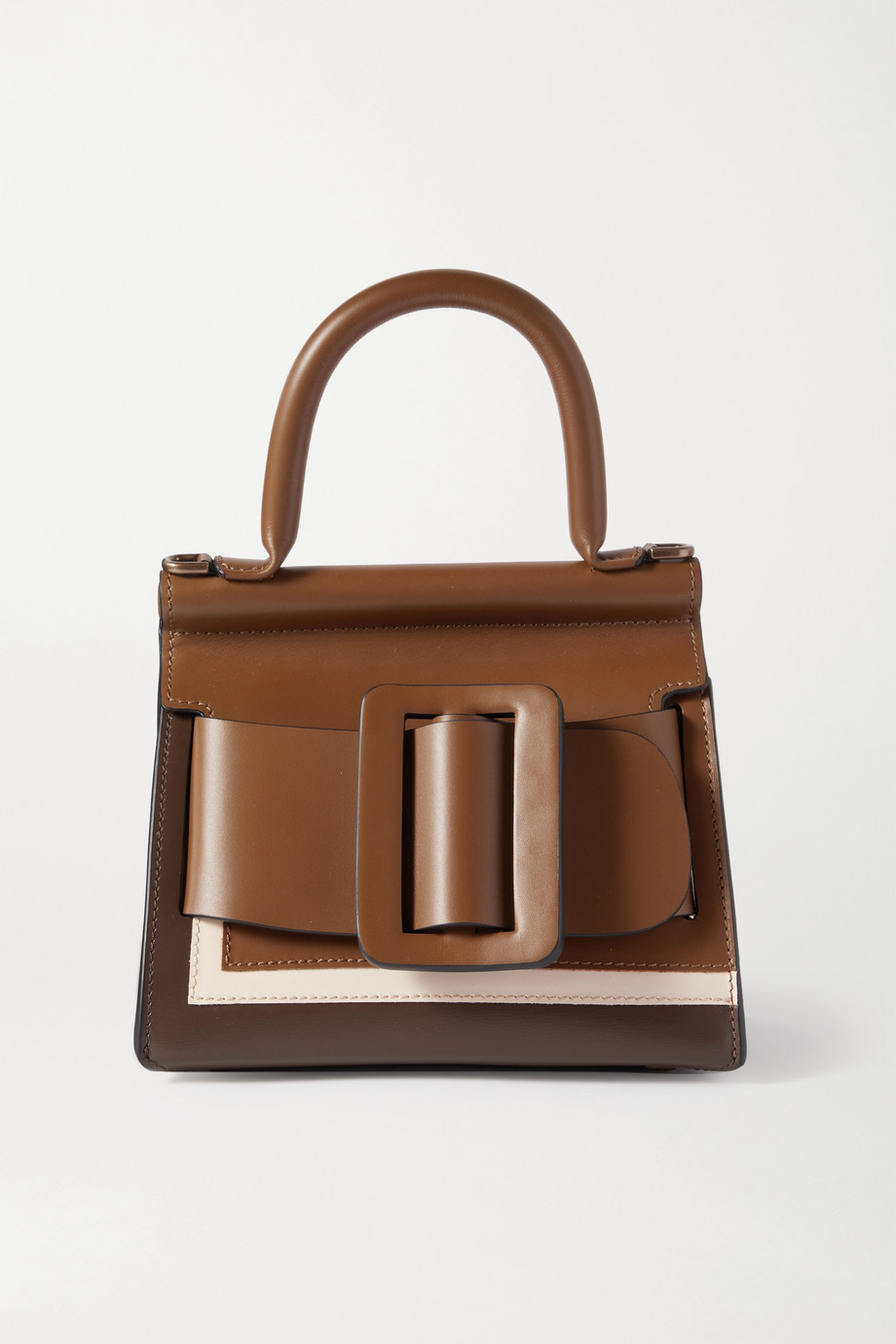 BOYY Karl 19 mini buckled color-block leather tote