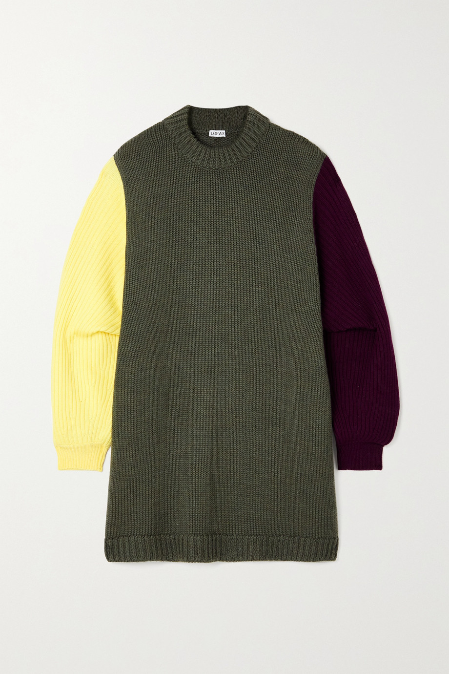 LOEWE Oversized color-block wool sweater