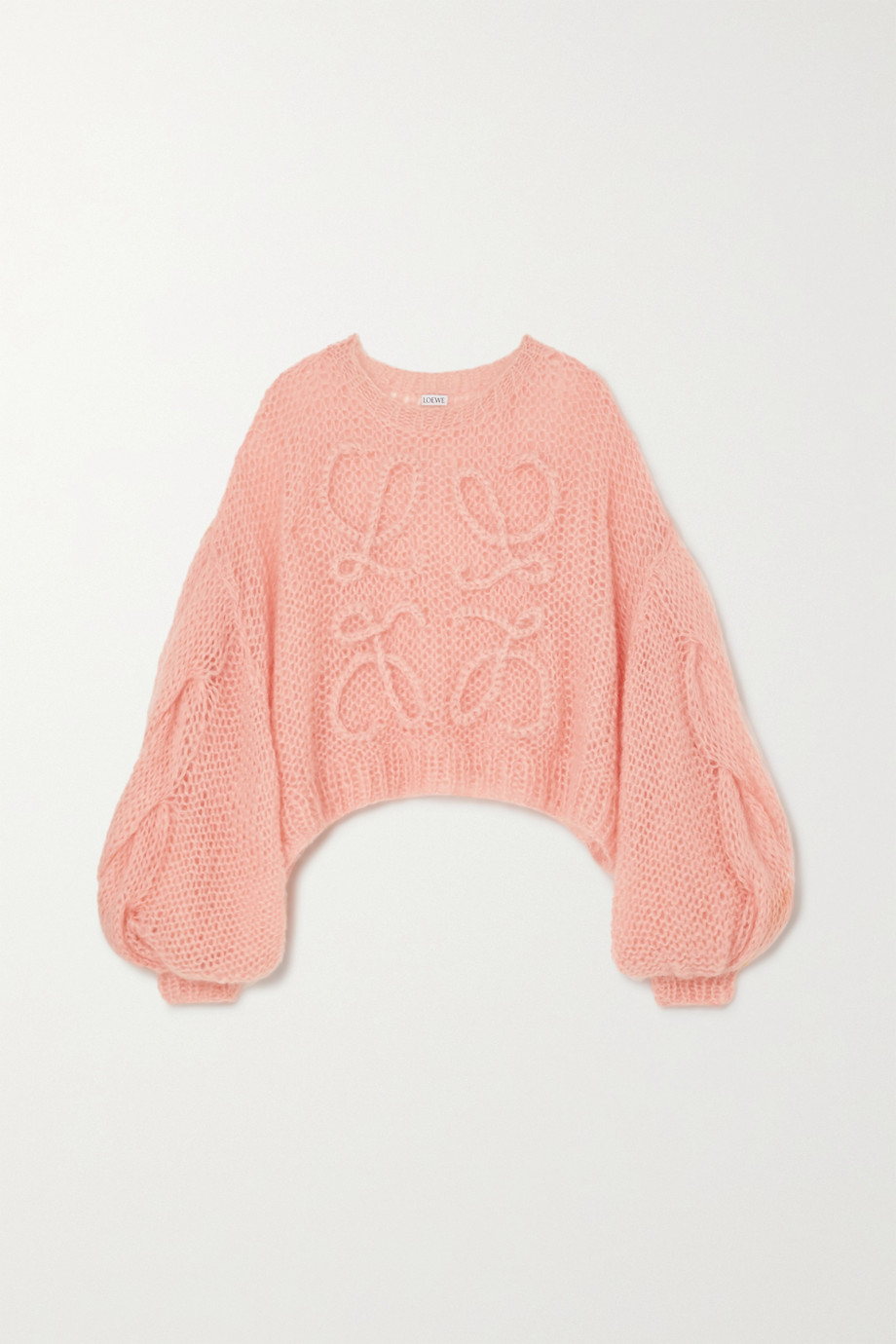 LOEWE Oversized cropped mohair-blend sweater