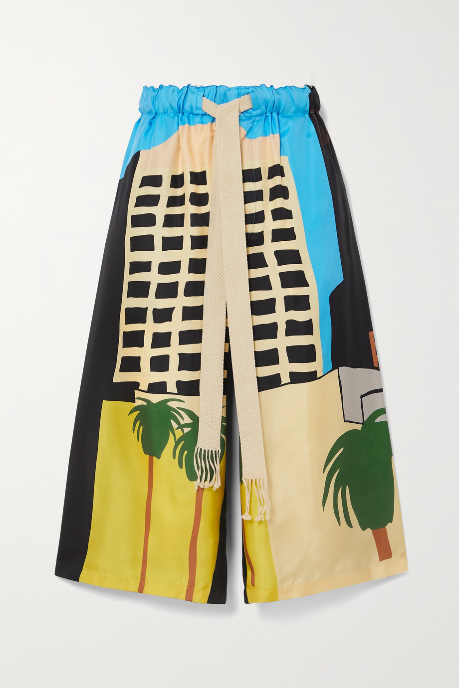 LOEWE + Ken Price LA Series printed silk-twill shorts