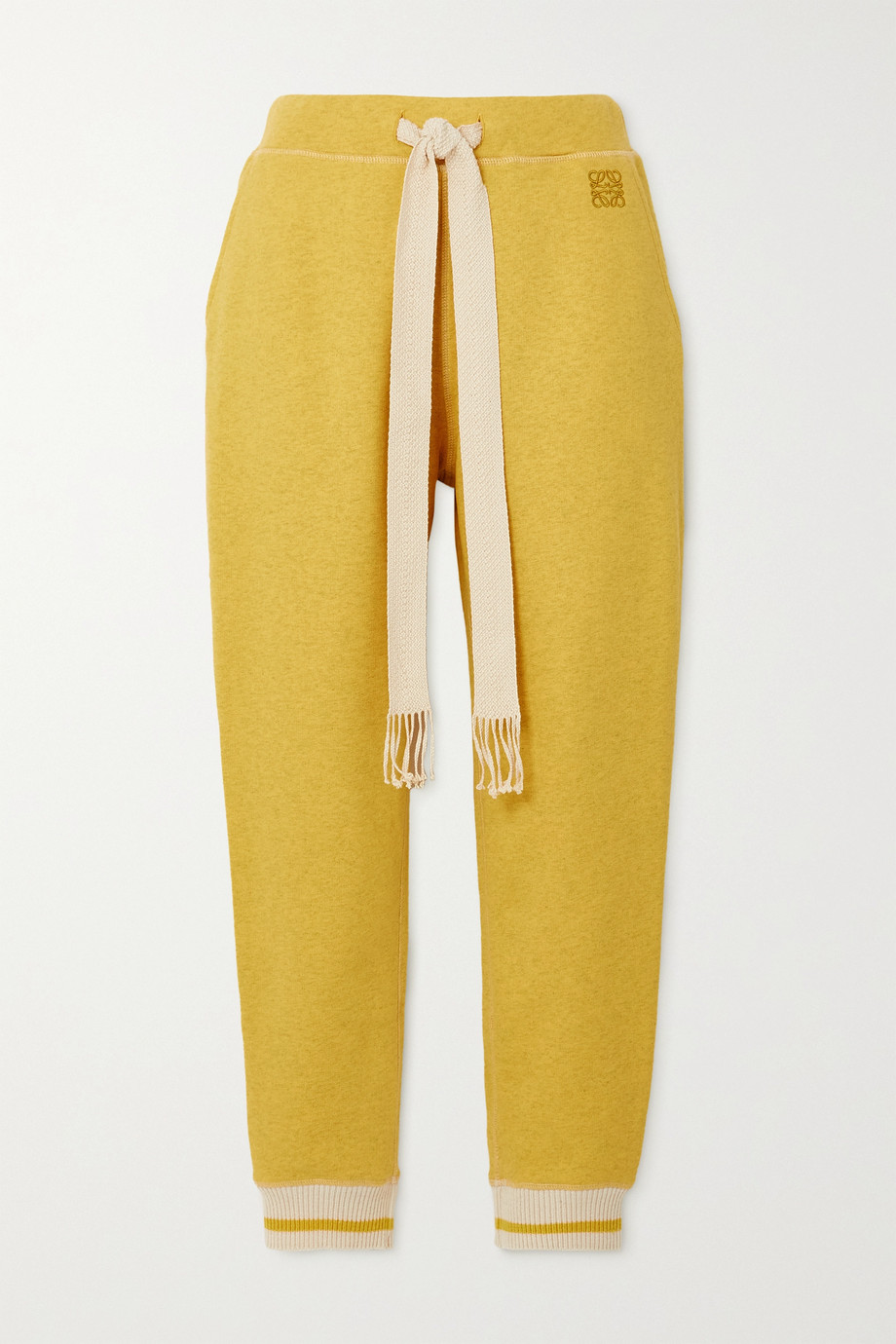 LOEWE Striped cotton-jersey track pants